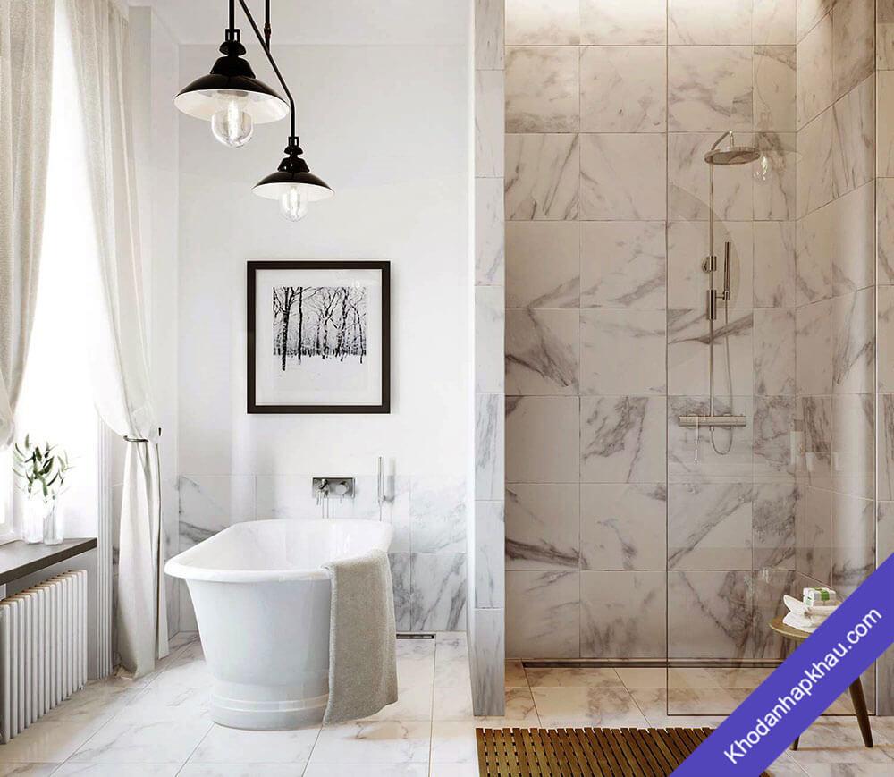 Một số ý tưởng thiết kế phòng tắm hiện đại tuyệt đẹp với đá cẩm thạch - Đá marble